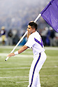 SEATTLE, WA - September 07:  Washington cheer member Isaac Iniguez entertained fans during the college football game between the Washington Huskies and the California Bears on September 07, 2019 at Husky Stadium in Seattle, WA. Jesse Beals / www.Olympicphotogroup.com