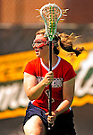 25 April 2009: Stony Brook University Seawolves' defenseman Cori Kennedy, a Sophomore from North Babylon, NY, in action against the University of Vermont Catamounts at Moulton Winder Field in Burlington, Vermont. The Lady Cats defeated the visiting Seawolves 19-11 in Vermont's last home game of the 2009 season. Mandatory Photo Credit: Ed Wolfstein Photo