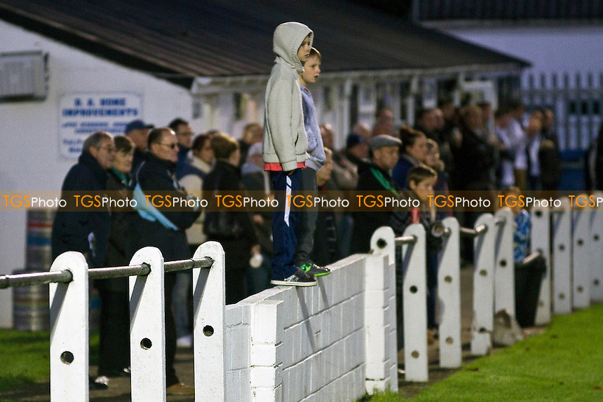 Two lads get an elevated view of the action at Shepton Mallet AFC - Shepton Mallet vs Portishead - Toolstation Western League Division One Football at the Playing Fields, Old Wells Road, Shepton Mallet, Somerset - 10/11/12 - MANDATORY CREDIT: David Bauckham / TGSPHOTO/ CENTRE CIRCLE PUBLISHING - contact@tgsphoto.co.uk - NO UNPAID USE.