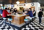 WOODBURY CT. 18 December 2018-011918SV01-Customers enjoy breakfast at Dottie&rsquo;s Diner in Woodbury Friday. The former owner of Phillips Diner in Woodbury, which became Dottie's and is known for its famous donuts, has died. The former owner of Phillips Diner in Woodbury, which became Dottie's and is known for its famous donuts, has died.<br /> Steven Valenti Republican-American