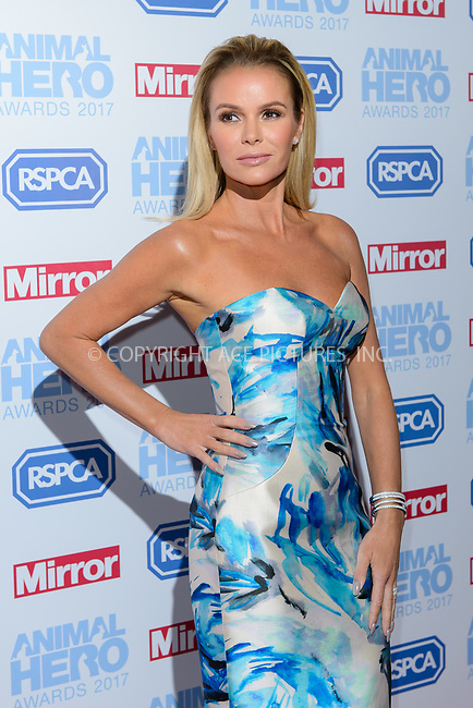 www.acepixs.com<br /> <br /> September 7 2017, London<br /> <br /> Amanda Holden attending the Animal Hero Awards 2017 on at the Grosvenor Hotel on September 7 2017 in London<br /> <br /> By Line: Famous/ACE Pictures<br /> <br /> <br /> ACE Pictures Inc<br /> Tel: 6467670430<br /> Email: info@acepixs.com<br /> www.acepixs.com