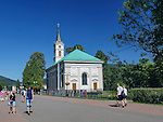 Wisła, (województwo śląskie) 28.08.2016. Ewangelicki, parafialny kościół ap. Piotra i Pawła w Wiśle.