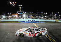 Nov. 15, 2008; Homestead, FL, USA; NASCAR Nationwide Series driver Carl Edwards celebrates after winning the Ford 300 at Homestead Miami Speedway. Mandatory Credit: Mark J. Rebilas-