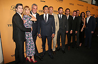LOS ANGELES, CA - JUNE 11: Kelly Reilly, Wes Bentley, Luke Grimes, Kevin Costner, Taylor Sheridan, Kelsey Asbille, Dave Annable, at the premiere of Yellowstone at Paramount Studios in Los Angeles, California on June 11, 2018. <br /> CAP/MPI/FS<br /> &copy;FS/MPI/Capital Pictures