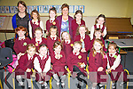 First Day at School for these Juniors at St Josephs NS Cahersiveen on Thursday last pictured front l-r; Rayna Hunt, Jennifer O'Sullivan, Grace Constable, Niamh McCarthy, Caoimhe O'Donoghue, Katie Foster, middle l-r; Katie Coffey, Ciara Clifford, Lilly O'Brien, Mary Kate Crowley, Sarah O'Connor, Nicole Devlin, back l-r; Geraldine  Keating(SNA), Veronica Stroie, Lexie O'Donoghue, Margaret Browne(Teacher), Angelika Miskowska & Lola O'Neill.