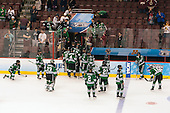 - The University of Minnesota Golden Gophers defeated the University of North Dakota 2-1 on Thursday, April 10, 2014, at the Wells Fargo Center in Philadelphia to advance to the Frozen Four final.