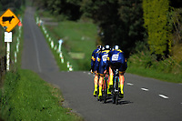 Auckland Grammar School senior A u20 boys in action during the 2017 NZ Schools Road Cycling championships day one team time trials at Koputaroa Road near Levin, New Zealand on Saturday, 30 September 2017. Photo: Dave Lintott / lintottphoto.co.nz