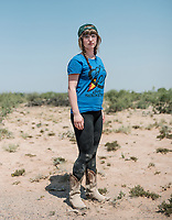 Annaliese Meyer from the University of Victoria at the Spaceport America Cup near the town of Truth or Consequences, New Mexico, Saturday, June 24, 2017. The International Intercollegiate Rocket Engineering Competition hosted over 110 teams from colleges and universities in eleven countries. Students launched solid, liquid, and hybrid rockets to target altitudes of 10,000 and 30,000 feet. The 2017 Spaceport America Cup winner was the University of Michigan, Ann Arbor, Team 79.<br /> <br /> Photo by Matt Nager