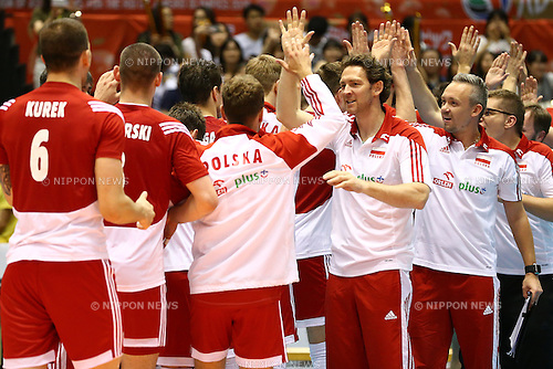 Poland team group (POL),<br /> MAY 29, 2016 - Volleyball :<br /> Men's Volleyball World Final Qualification for the Rio de Janeiro Olympics 2016<br /> match between France 2-3 Poland<br /> at Tokyo Metropolitan Gymnasium, Tokyo, Japan.<br /> (Photo by Shingo Ito/AFLO SPORT)