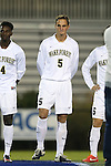 25 October 2013: Wake Forest's Sam Fink. The Duke University Blue Devils hosted the Wake Forest University Demon Deacons at Koskinen Stadium in Durham, NC in a 2013 NCAA Division I Men's Soccer match. The game ended in a 2-2 tie after two overtimes.