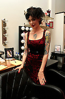 LOS ANGELES - AUG 3: Micheline Pitt  at the opening of the 'Pinup Girl Boutique' on August 3, 2012 in Burbank, California