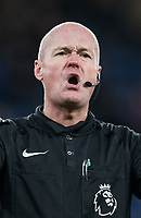 Referee Lee Mason during the Premier League match between Chelsea and West Bromwich Albion at Stamford Bridge, London, England on 12 February 2018. Photo by Andy Rowland.