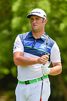 Jon Rahm (ESP) watches his tee shot on 4 during round 2 of the Dean &amp; Deluca Invitational, at The Colonial, Ft. Worth, Texas, USA. 5/26/2017.<br /> Picture: Golffile | Ken Murray<br /> <br /> <br /> All photo usage must carry mandatory copyright credit (&copy; Golffile | Ken Murray)