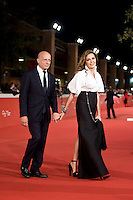 Rome, october 16, 2015. Daniela Santanchè and Alessandro Sallusti walk the red carpet for 'Truth' during the 10th Rome Film Fest at Auditorium Parco Della Musica.