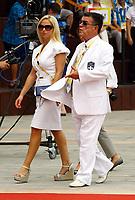 Minos Kyriakou with wife Mari Konstantatou. STOCK PICTURE