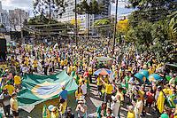 CURITIBA, PR,16.08.2015 – PROTESTO-PR – Manifestantes realizam protesto contra o governo da presidente Dilma Rousseff, na praça Santos Andrade, centro de Curitiba,na tarde deste domingo (16).(Foto Paulo Lisboa/ Brazil Photo Press)