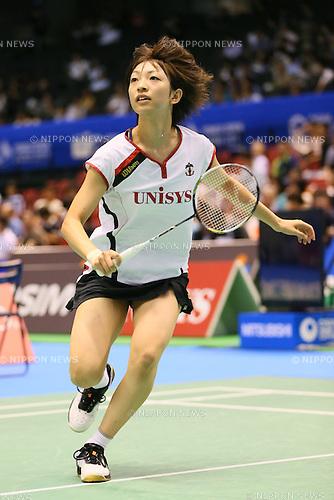 Shizuka Uchida (JPN), <br /> SEPTEMBER 20, 2013 - Badminton : <br /> Yonex Open Japan 2013 <br /> Women's Singles <br /> at Tokyo Metropolitan Gymnasium, Tokyo, Japan. <br /> (Photo by YUTAKA/AFLO SPORT) [1040]