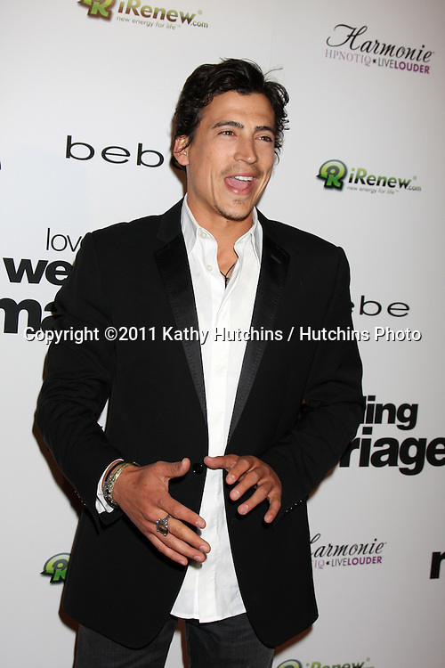"""LOS ANGELES - MAY 17:  Andrew Keegan arriving at the """"Love, Wedding, Marriage"""" LA Premiere at Silver Screen Theater at the Pacific Design Center on May 17, 2011 in Los Angeles, CA"""