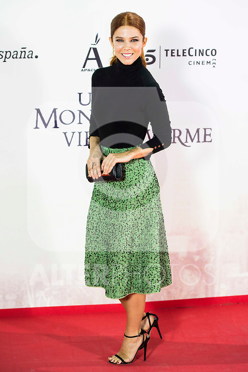 """Juana Acosta during the premiere of the spanish film """"Un Monstruo Viene a Verme"""" of J.A. Bayona at Teatro Real in Madrid. September 26, 2016. (ALTERPHOTOS/Borja B.Hojas)"""