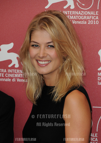 Rosamund Pike at the Barney's Version photocall during the 67th annual Venice Film Festival..September 10, 2010  Venice, IT.Picture: Anne-Marie Michel / Featureflash