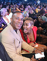 LOS ANGELES, CA - JUNE 23: DeVon Franklin and Meagan Good at the 2019 BET Awards Show at the Microsoft Theater in Los Angeles on June 23, 2019. Credit: Walik Goshorn/MediaPunch