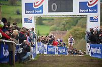 Koppenbergcross 2013<br /> <br /> British Champion Ian Field (GBR) leading the race in the 2nd lap