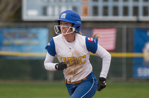 MARCH 31, 2017 -- NAIA Cascade Collegiate Conference softball action between the UBC Thunderbirds and the Great Falls (Mont.) Argos at Softball City in Surrey, British Columbia, Canada. ****(Photo by Wilson Wong 2017 All Rights Reserved****)