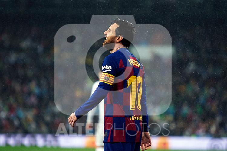 FC Barcelona's forwar Lionel Messi reacts La Liga match. Mar 01, 2020. (ALTERPHOTOS/Manu R.B.)