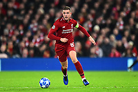 Liverpool's Jordan Henderson in action<br /> <br /> Photographer Richard Martin-Roberts/CameraSport<br /> <br /> UEFA Champions League Group C - Liverpool v Napoli - Tuesday 11th December 2018 - Anfield - Liverpool<br />  <br /> World Copyright © 2018 CameraSport. All rights reserved. 43 Linden Ave. Countesthorpe. Leicester. England. LE8 5PG - Tel: +44 (0) 116 277 4147 - admin@camerasport.com - www.camerasport.com