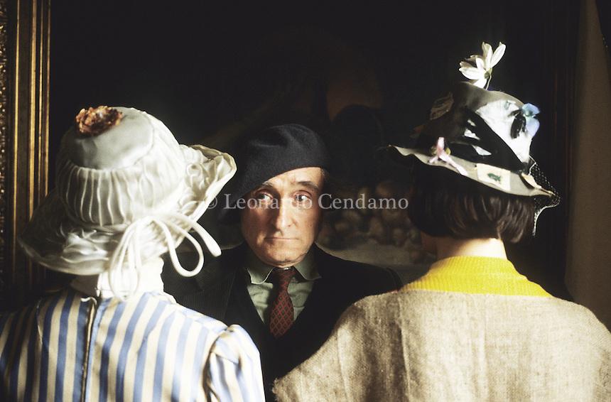 2002, Torino, Italy, Guido Ceronetti, writer, filosofo, poeta,  © Leonardo Cendamo