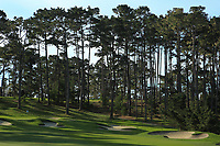 A general view of the 17th hole Spyglass Hill Golf Course during the first round of the AT&amp;T Pro-Am, Pebble Beach Golf Links, Monterey, California, USA. 07/02/2019<br /> Picture: Golffile | Phil Inglis<br /> <br /> <br /> All photo usage must carry mandatory copyright credit (&copy; Golffile | Phil Inglis)