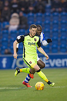 Pierce Sweeney of Exeter City under pressure fromFrank Nouble of Colchester United during Colchester United vs Exeter City, Sky Bet EFL League 2 Football at the JobServe Community Stadium on 24th November 2018