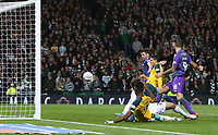 2nd November 2019; Hampden Park, Glasgow, Scotland; Scottish League Cup Football, Hibernian versus Celtic; Mohamed Elyounoussi of Celtic makes it 3-1 in the 44th minute of the game - Editorial Use