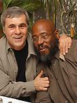 Viorel Florescu and John Williams at retirement dinner for Jim Dooley held at the Manducatis Restaurant in long Island City on Wednesday February 9, 2005. (Photo copyright Jim Peppler 2005).