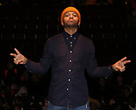 "Terrance Spencer during the eduHAM Q & A before The Rockefeller Foundation and The Gilder Lehrman Institute of American History sponsored High School student #EduHam matinee performance of ""Hamilton"" at the Richard Rodgers Theatre on December 11, 2019 in New York City."