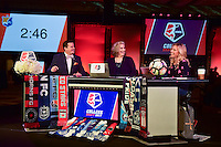 Los Angeles, CA - Thursday January 12, 2017: Mark Rogondino, Jen Cooper, Aly Wagner during the 2017 NWSL College Draft at JW Marriott Hotel.
