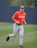 Erik Erickson of the Miami Hurricanes vs. the Virginia Cavaliers: March 24th, 2007 at Davenport Field in Charlottesville, VA.  Photo copyright Mike Janes Photography 2007.