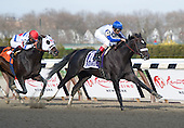 Morning Line defeats up and comer Apriority in the Grade 1 Carter Handicap at Aqueduct on Saturday.