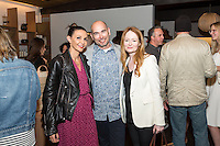 Nathalie Pouille-Zapata, John Adler and Miranda Otto attend the West Hollywood Design District A Street Af(fair) Opening Party at Jenni Kayne on April 29, 2016 (Photo by Inae Bloom/Guest of a Guest)