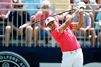 Rickie Fowler (USA) tees off on the first hole during the third round of the 100th PGA Championship at Bellerive Country Club, St. Louis, Missouri, USA. 8/11/2018.<br /> Picture: Golffile.ie | Brian Spurlock<br /> <br /> All photo usage must carry mandatory copyright credit (&copy; Golffile | Brian Spurlock)