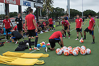 Miami, FL. - May 18, 2016: The USMNT train in preparation for the 2016 Copa America Centenary at Barry University.