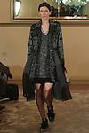 "Katya walks runway in an outfit from the Yuna Yang Fall Winter 2016 ""No Borders"" collection, during New York Fashion Week Fall 2016."