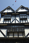Black and White timbered front of Eastgate House, High Street, Rochester, Kent, England
