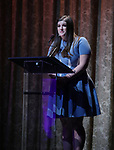 Rachel Routh on stage at the Dramatists Guild Foundation 2018 dgf: gala at the Manhattan Center Ballroom on November 12, 2018 in New York City.
