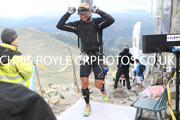Race number 129 - Jon Pedersen - Sunday Norseman Xtreme Tri 2012 - Norway - photo by chris royle / boxingheaven@gmail.com