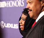 Aretha Franklin & William Wilkerson.arriving for the BET Honors 2012 at the Warner Theatre on January 14, 2012 in Washington, DC.