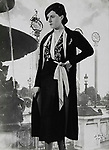 d'Ora Paris. Afternoon ensemble of black crepe. Model Nina Ricci (50703). About 1937. Photograph.