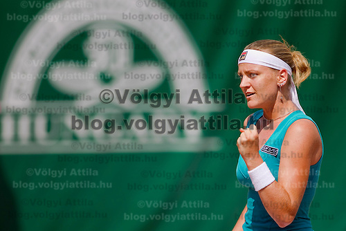 Agnes Szavay (HUN) during the Gaz de France Suez WTA tour Grand Prix international women tennis competition held at Roman Tennis Academy in Budapest, Hungary. Tuesday, 06. July 2010. ATTILA VOLGYI