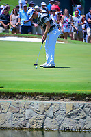 David Lingmerth (SWE) watches his putt on 9 during round 2 of the Dean &amp; Deluca Invitational, at The Colonial, Ft. Worth, Texas, USA. 5/26/2017.<br /> Picture: Golffile | Ken Murray<br /> <br /> <br /> All photo usage must carry mandatory copyright credit (&copy; Golffile | Ken Murray)