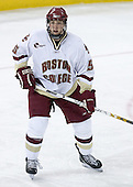 Sophomore defenseman Tim Filangieri of Islip Terrace, New York played in all 42 games for Boston College in his freshman season. The Eagles of Boston College defeated the Falcons of Bowling Green State University 5-1 on Saturday, October 21, 2006, at Kelley Rink of Conte Forum in Chestnut Hill, Massachusetts.<br />